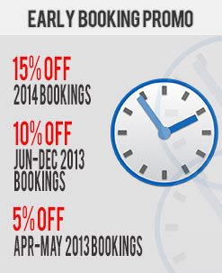 Early Booking Car Rental Promo - December 2012 1st Fortnight
